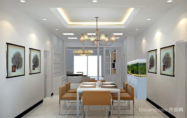 2016大户型现代简约餐厅背景墙装修风格效果图