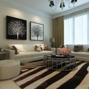 100平米唯美大户型欧式家装客厅装修效果图鉴赏