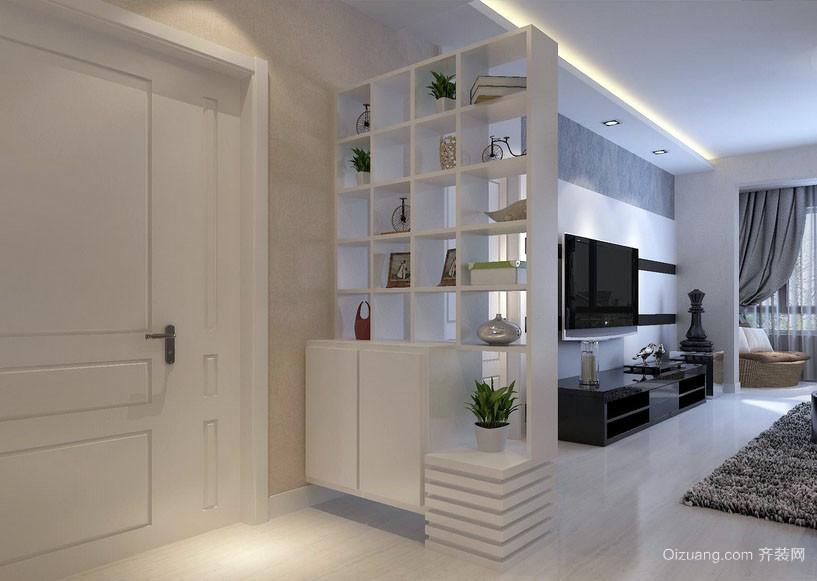 都市现代100平米玄关柜设计装修效果图