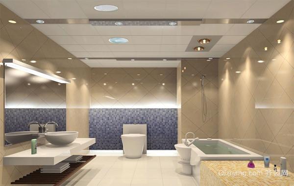 2016欧式大户型家庭卫生间吊顶装修效果图片