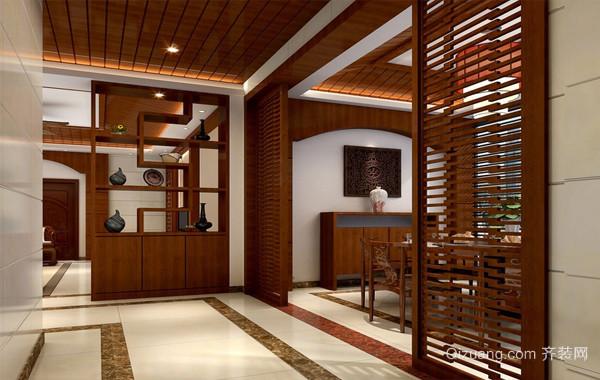中式风格大户型家居鞋柜装修效果图