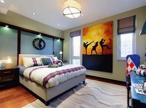 2016东南亚风格大户型卧室装修效果图