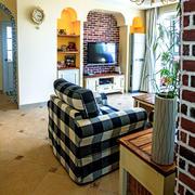 田园客厅电视背景墙