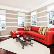 客厅红色靓丽沙发