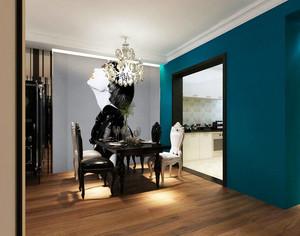 单身公寓家装简欧小餐厅壁纸效果图片