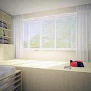 纯白色调窗帘设计图
