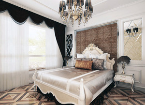 80平米小户型欧式卧室背景墙简单装修效果图