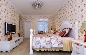田园风情98平米两居室卧室装修效果图