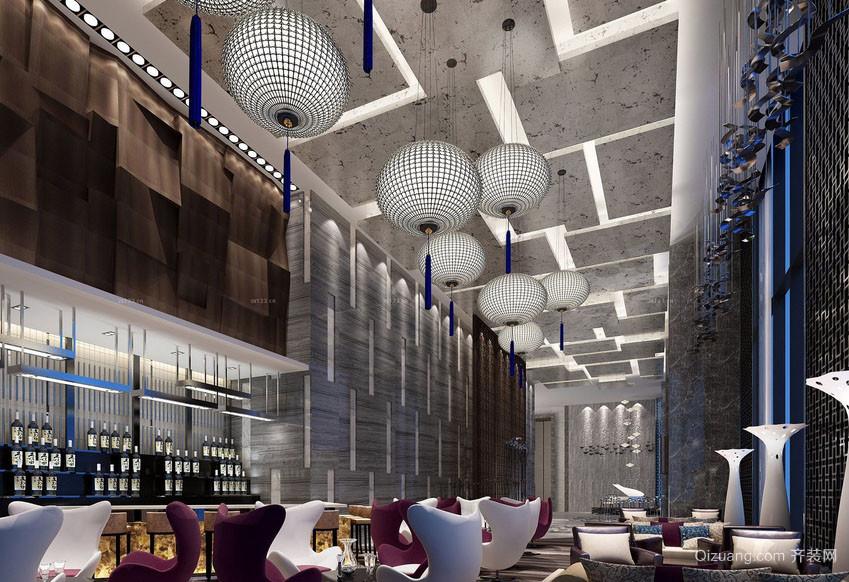 都市高端西式饭店吊顶装修装饰效果图