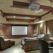 100平米大户型精美的欧式室内影视墙装修效果图