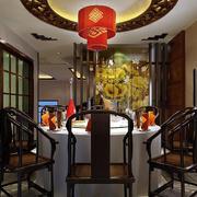 复古中式饭店包间装修装饰效果图