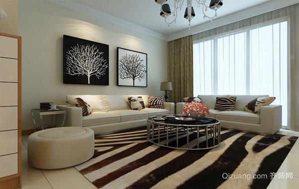 摩登时髦单身公寓客厅装修效果图欣赏