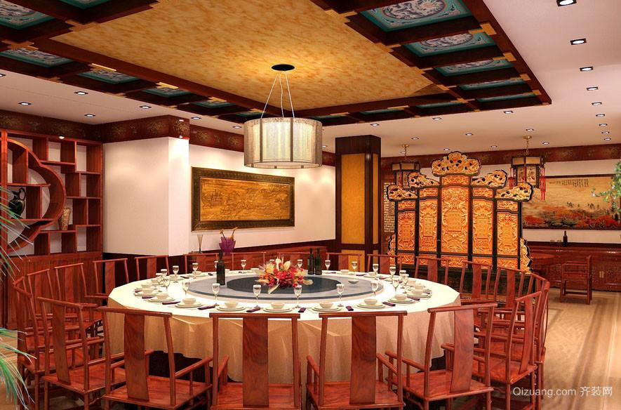 古典中式韵味饭店包厢装修装饰效果图
