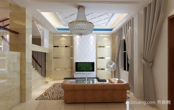 流行元素:现代小复式楼客厅装修欣赏