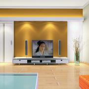 现代室内电视背景墙图