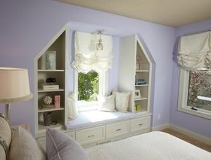 宜家温暖120平米家居卧室飘窗装修图