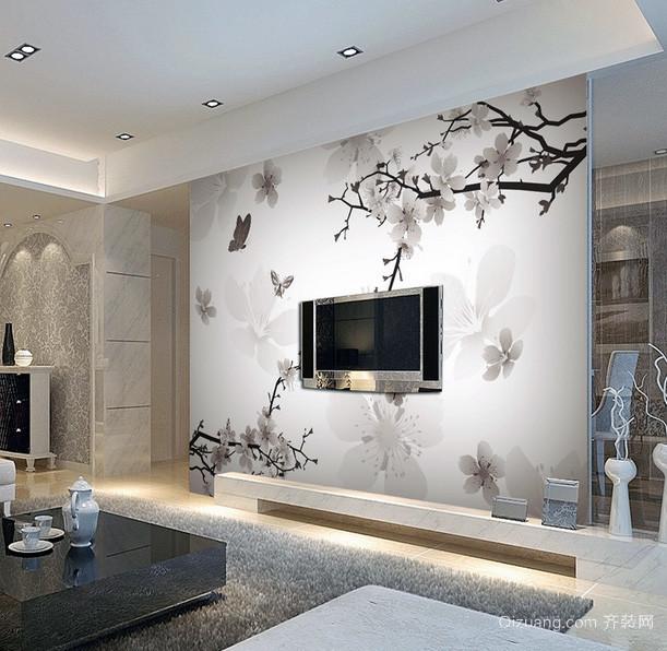 2016别墅型现在简约欧式电视背景墙装修效果图