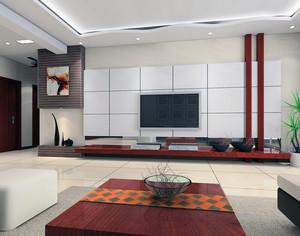 2016大户型欧式客厅液晶电视背景墙装修效果图