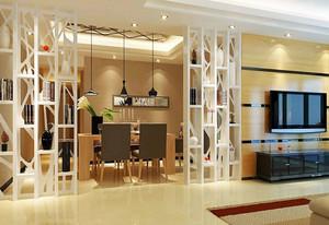 都市100平米两室一厅餐厅隔断装修设计图