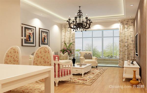 90平米大户型欧式家庭简单装修室内客厅装修效果图