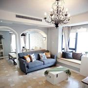 现代沙发背景墙整体图