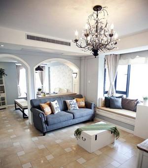 二居室唯美的欧式家庭室内客厅飘窗装修效果图