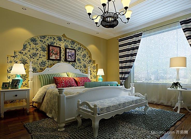 2016小户型欧式简约式卧室背景墙装修效果图