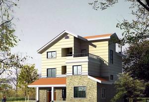 2016精致美观的现代农村平房房屋设计图