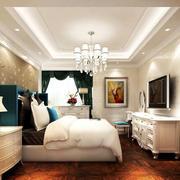 家装简欧20平米卧室壁纸效果图片大全
