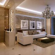 现代三室两厅玄关隔断设计装修效果图