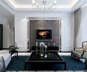 现代都市欧式单身公寓的客厅装修效果图实例