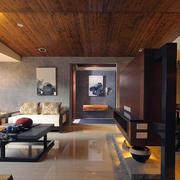 家庭走廊实木吊顶