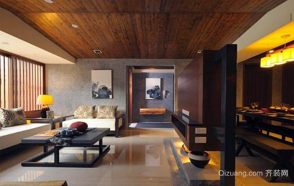 日式120平米三居室家庭装修设计效果图