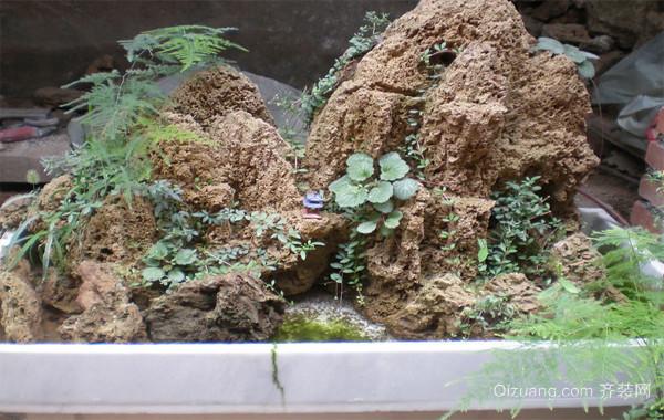 2016精致独特的小型假山盆景制作装修效果图鉴赏