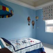 家庭水蓝色卧室欣赏