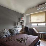 家装中性冷色调卧室