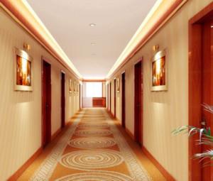 色调唯美的现代都市小宾馆吊顶装修效果图