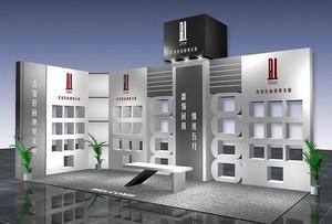 50平米女鞋店铺现代化展示柜图片