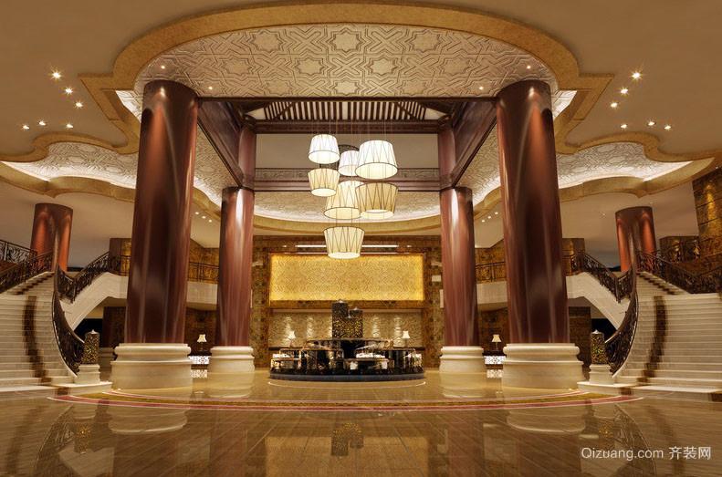 2016奢华精致酒店大堂设计效果图