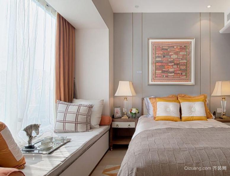 2016精美的现代欧式卧室飘窗装修效果图