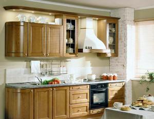 自然混搭风大户型整体厨房装修效果图