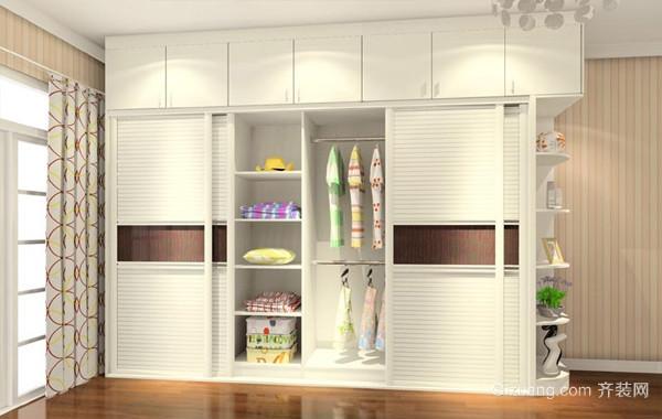 各种款式20平米卧室衣柜装修设计效果图