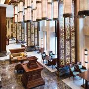 新中式大酒店大堂设计效果图