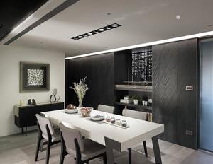 简单利落90平米家庭装修设计效果图