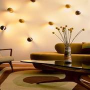 客厅沙发背景壁灯展示
