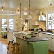 现代欧式大户型厨房背景墙装修设计效果图