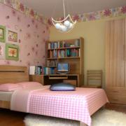 2016唯美的都市现代儿童卧室背景墙装修效果图