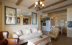 家装小客厅背景