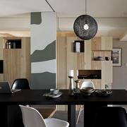 家装黑色简约餐桌