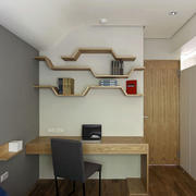 家装小书房个性壁架
